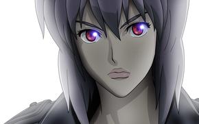 призрак в доспехах, девушка, майор, красные глаза, крупный план, вектор обои, фото