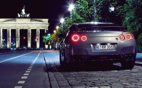 ночь, париж, город, Nissan обои, фото