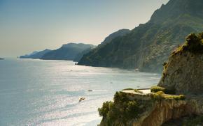 реклама, италия, море, падение, холмы, горы, пейзаж, природа обои, фото