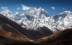 небо, горы, облака, тибет, китай обои, фото