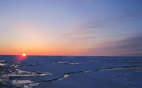 охотское море, лёд, камчатка обои, фото