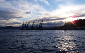 море, камчатка, закат обои, фото