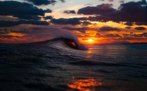 зима, закат, небо, солнце, облака, море, океан, волны, benny crum photography обои, фото