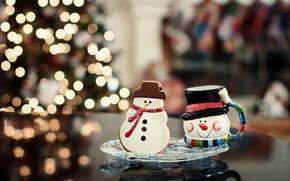 игрушки, праздник, фон, Новый год обои, фото
