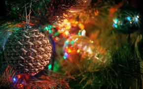 новый год, елка, лампочки, праздник, елочные игрушки, настроене, Новый год обои, фото