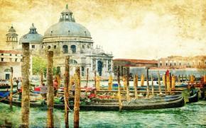 Венеция, Италия, винтаж, ретро, красивый, красота, море, океан, рай обои, фото