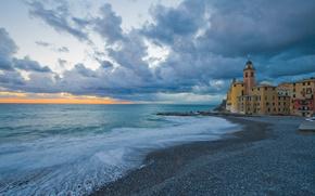 camogli, liguria, italy, Камольи, Лигурия, Италия, море, церковь, побережье, пейзаж обои, фото