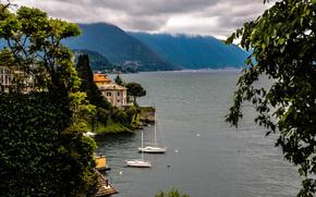 италия, море, горы.пейзаж обои, фото