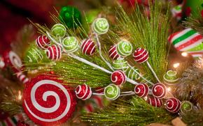 ветка, декоративная, игрушки, блеск, Новый Год, праздник, Новый год обои, фото