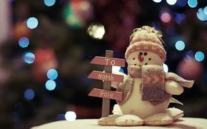 игрушка, снеговик, праздник, Новый год обои, фото