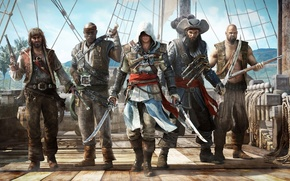 ����: assassins, creed, iv, 4, black, flag
