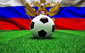 World Cup, flag, football, ball, Russia