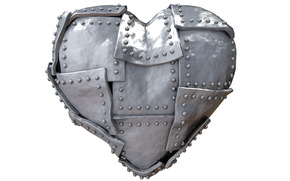 heart, iron, Rendering