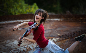 beauty, violin, Lindsey Stirling