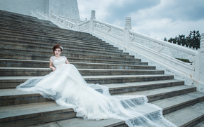STEPS, wedding, girl, bride