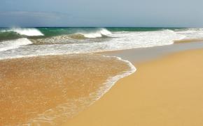 соре, волны, песок, прибой