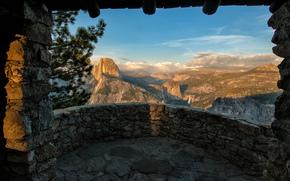 Panoramma, California, balcón, Parque Nacional de Yosemite, valle, ver