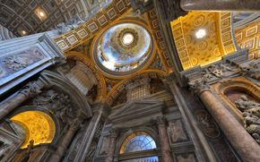 religión, Vaticano, cúpula, Murales, Catedral de San Pedro