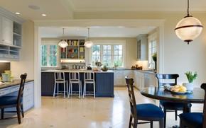 столовая, стиль, кухня, интерьер, дизайн, комната