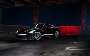 negru, Nissan, Nissan, parcare, înainte