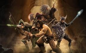 Gant, donjons, dragons, guerriers