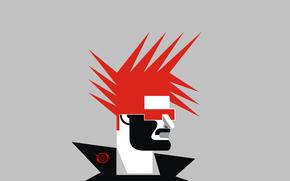 red, head, portrait, digital, punk, rock, style, haircut, fashion, bfvrp, zelko, radic, design, Logo, print, drawings