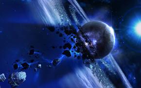 meteoros, espaço, 3d, arte