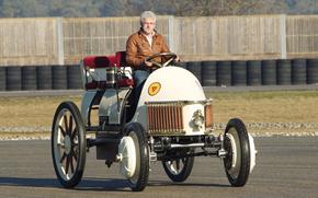 clássico, carro, nostalgia, 1900_Lohner_Porsche_Semper_Vivus