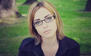 girls, glasses, face